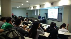 Wilson Sarmiento durante conferencia del Expin Media Lab Workshop 2018.